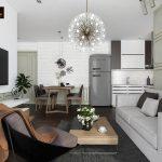 Thiết kế nội thất căn hộ masteri 2 phòng ngủ