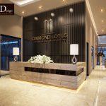 Thiết kế cải tạo Văn Phòng bán hàng Diamond lotus